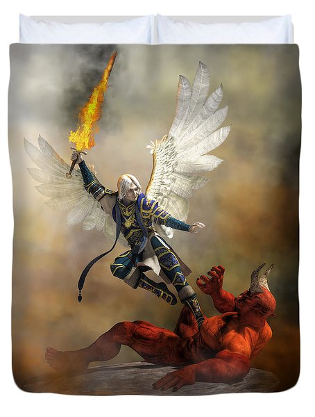 The Archangel Michael Duvet Cover