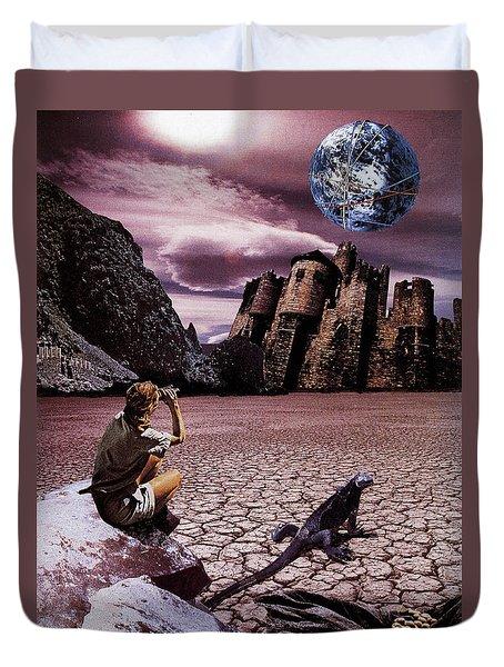 The Archeologist Duvet Cover