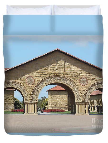 The Arches At Stanford Duvet Cover