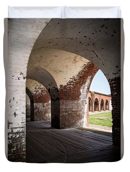 The Arches Of Fort Pulaski Duvet Cover
