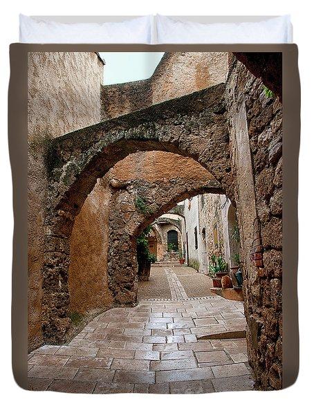 The Archways Of Villecroz Duvet Cover