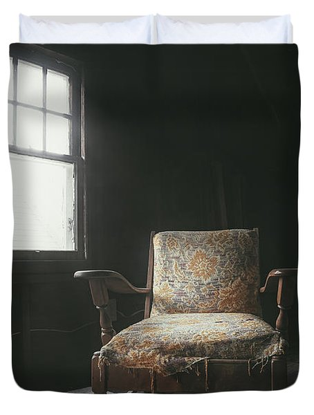 The Armchair In The Attic Duvet Cover