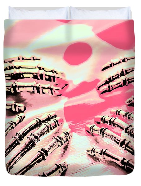 The Arms Of Automation Duvet Cover