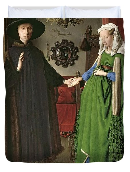 The Arnolfini Marriage Duvet Cover