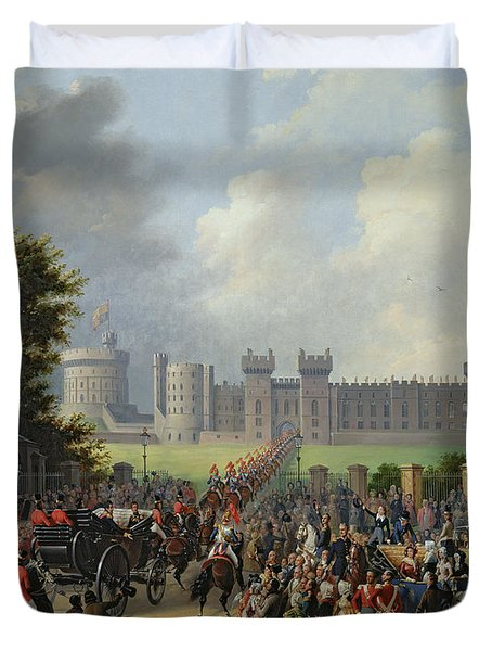 The Arrival Of Louis-philippe Duvet Cover by Edouard Pingret