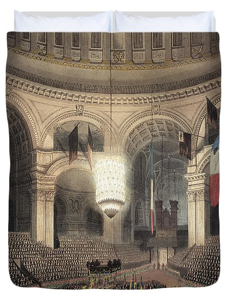 The Arrival Of Nelson's Funeral Carriage For Internment  Duvet Cover