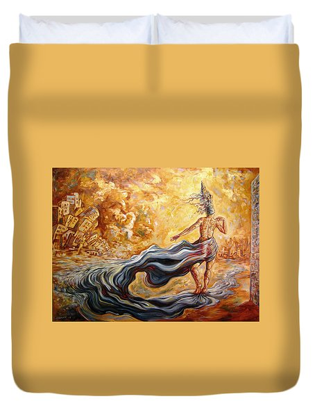 The Arrival Of The Goddess Of Consciousness Duvet Cover by Darwin Leon