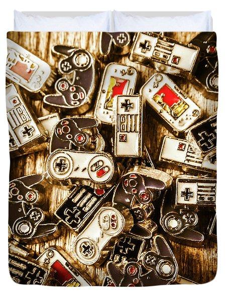 The Art Of Antique Games Duvet Cover