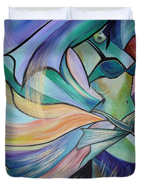 The Art Of Belly Dance Duvet Cover by Tracey Harrington-Simpson