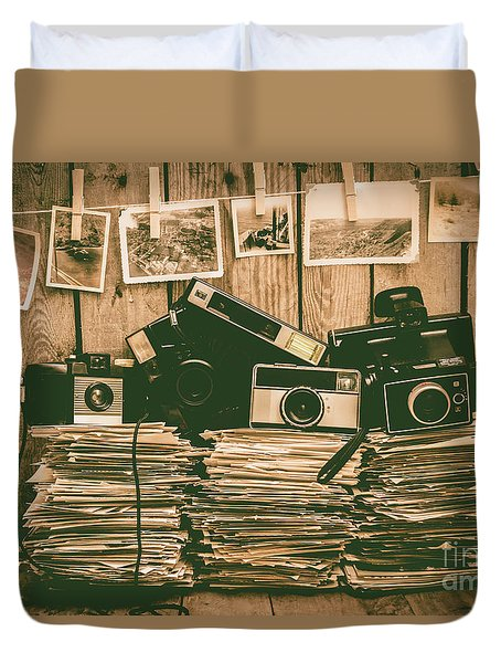 The Art Of Film Photography Duvet Cover