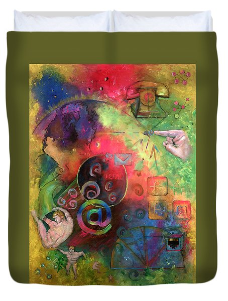 The Art Of The Net Duvet Cover by Peter Bonk