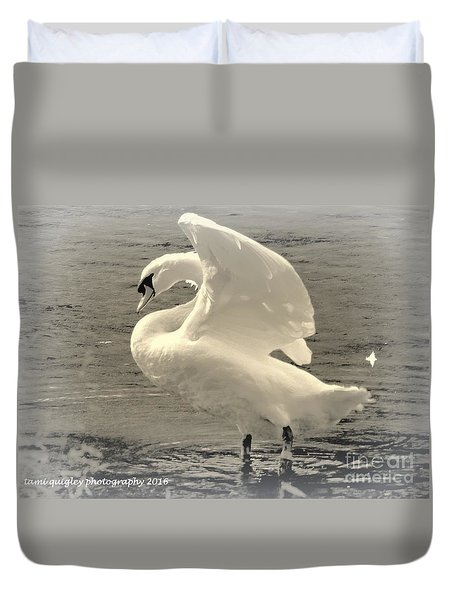 The Art Of The Swan  Duvet Cover