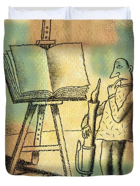 The Art Of Writing Duvet Cover