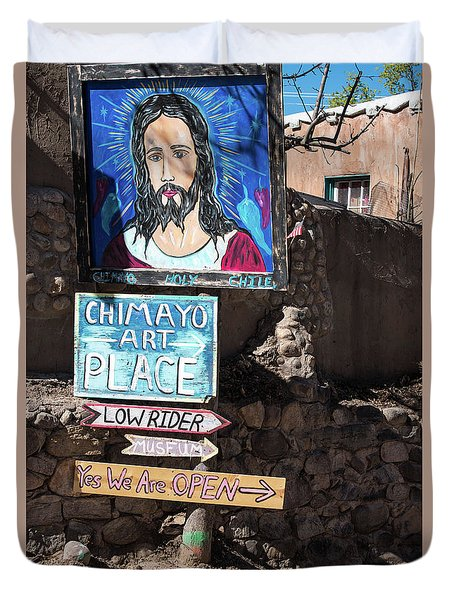 The Art Place In Chimayo Duvet Cover