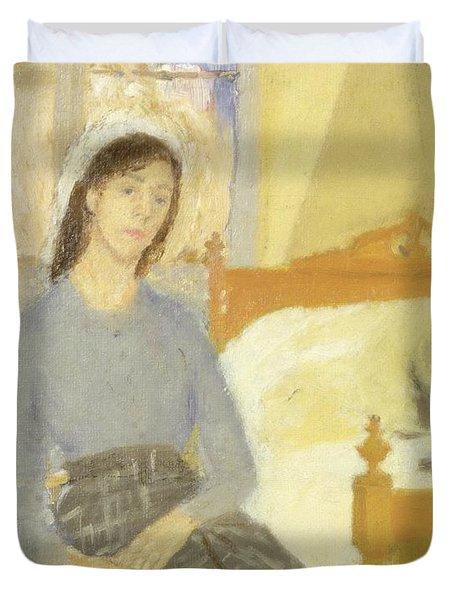The Artist In Her Room In Paris Duvet Cover by Gwen John