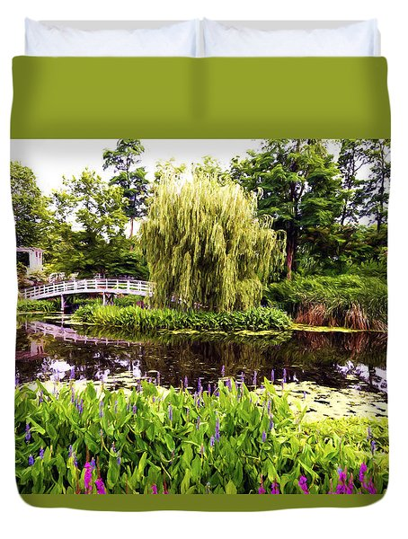 Duvet Cover featuring the photograph The Artists Garden by Anthony Baatz