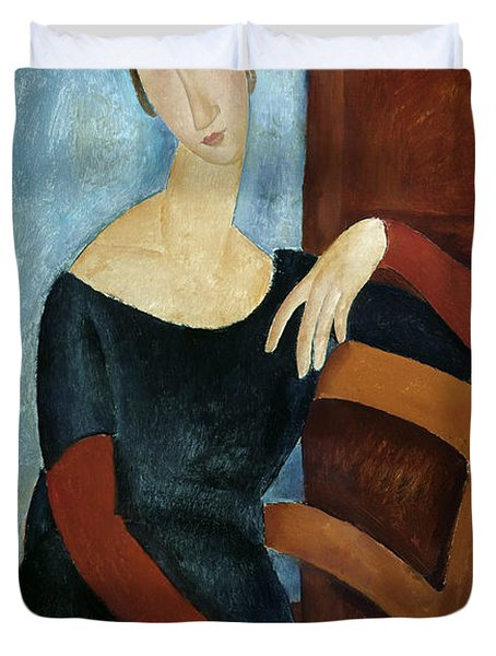 The Artist's Wife Duvet Cover by Amedeo Modigliani