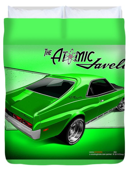 The Atomic Javelin Rear Duvet Cover