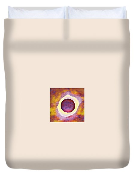 The Aura Of The Eclipse Duvet Cover