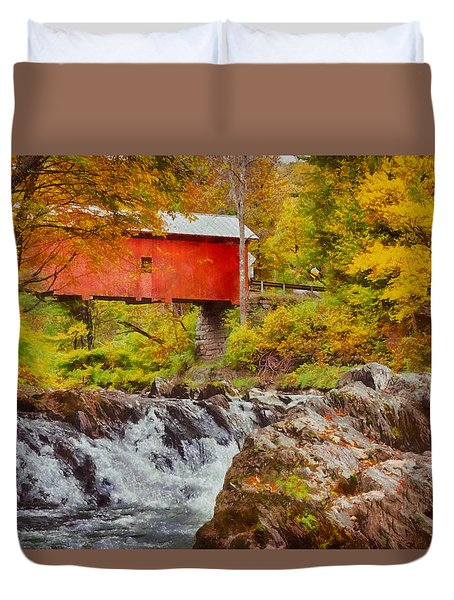 Duvet Cover featuring the photograph The Autumn Colors Arrive by Jeff Folger