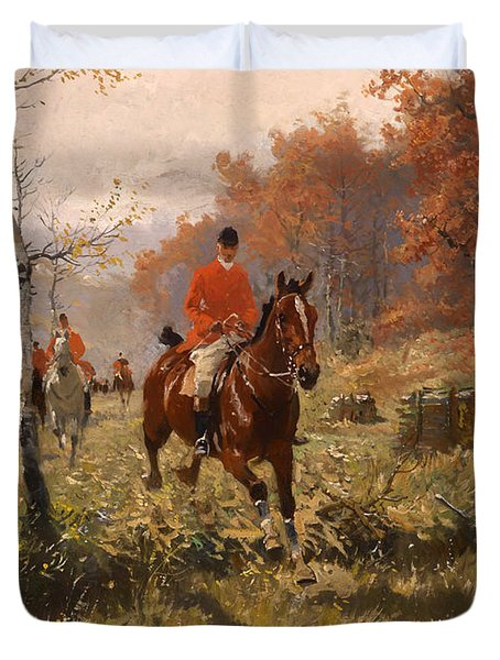 The Autumn Hunt Duvet Cover by Mountain Dreams