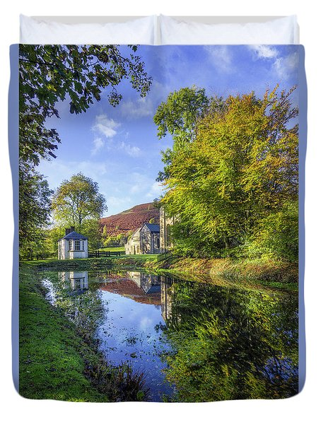 Duvet Cover featuring the photograph The Autumn Pond by Ian Mitchell