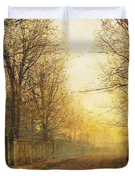 The Autumn's Golden Glory Duvet Cover