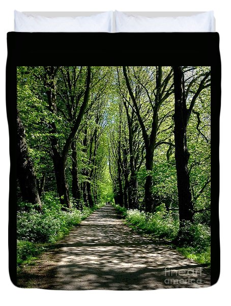 The Avenue Of Limes At Mill Park 3 Duvet Cover