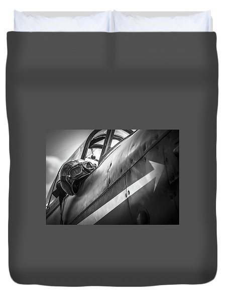 The Aviator - Bw Series Duvet Cover