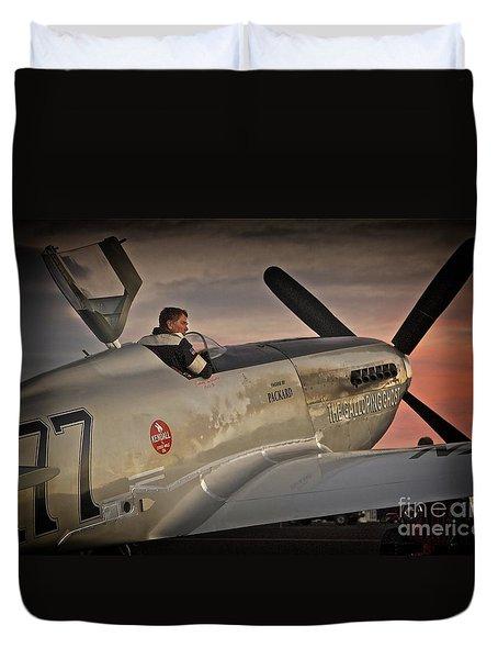 The Aviator Jimmy Leeward Redux For Tees Duvet Cover