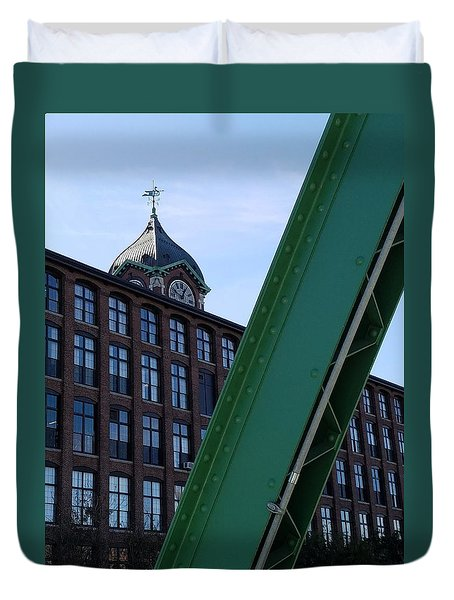 The Ayer Mill And Clock Tower Duvet Cover