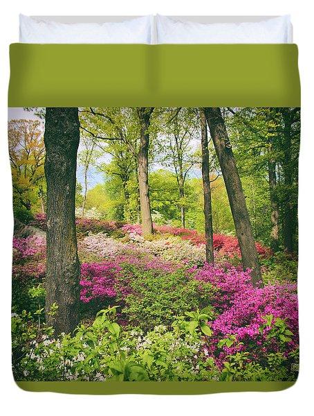 The Azalea Woodland Duvet Cover by Jessica Jenney