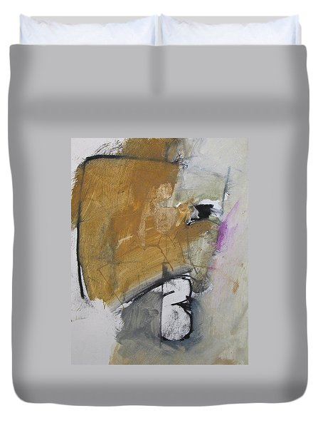 Duvet Cover featuring the painting The B Story by Cliff Spohn