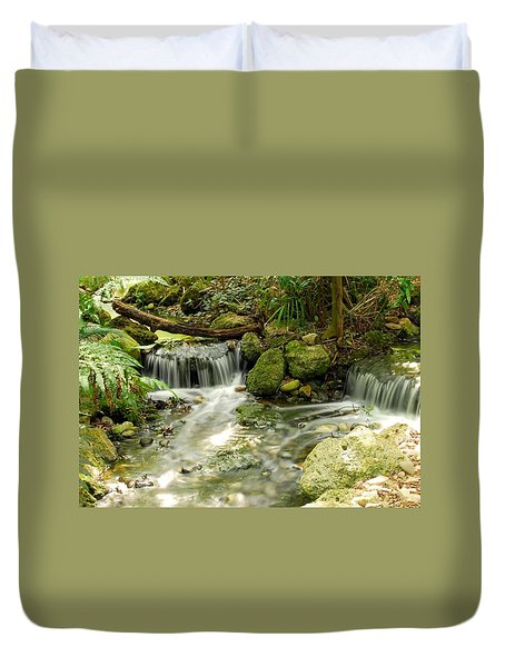 The Babbling Brook Duvet Cover