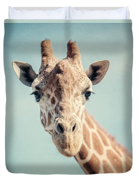 The Baby Giraffe Duvet Cover
