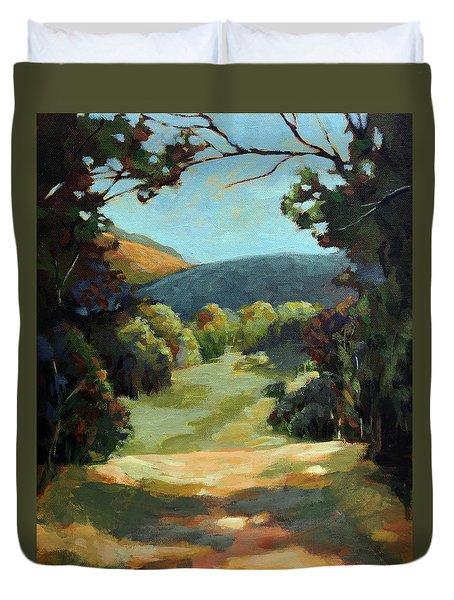 The Backroads - Original Oil On Canvas Summer Landscape  Duvet Cover