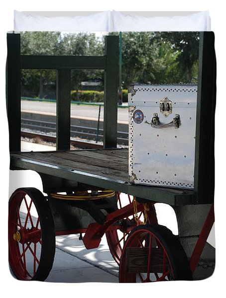 The Baggage Cart And Truck Duvet Cover by Rob Hans