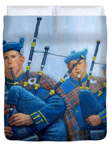 The Bagpipers Duvet Cover