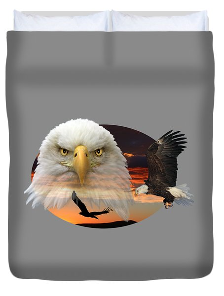 Duvet Cover featuring the photograph The Bald Eagle 2 by Shane Bechler