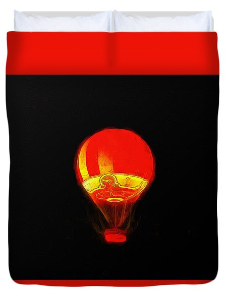 The Balloon At Night - Pa Duvet Cover