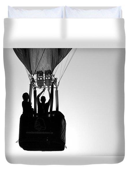 Duvet Cover featuring the photograph The Balloon Pilot by AJ Schibig