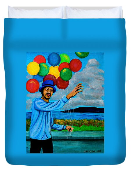 The Balloon Vendor Duvet Cover