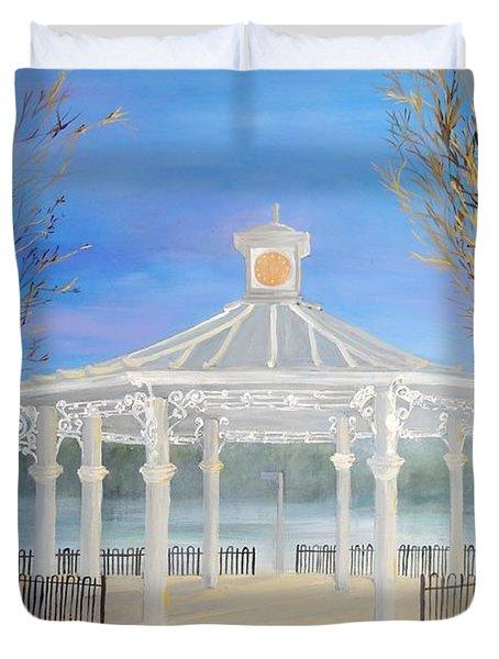 The Bandstand Basingstoke War Memorial Park Duvet Cover