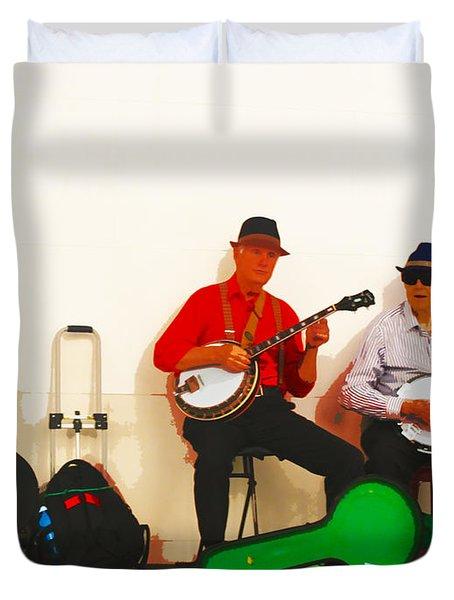 The Banjo Dudes Duvet Cover