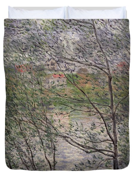 The Banks Of The Seine Duvet Cover by Claude Monet