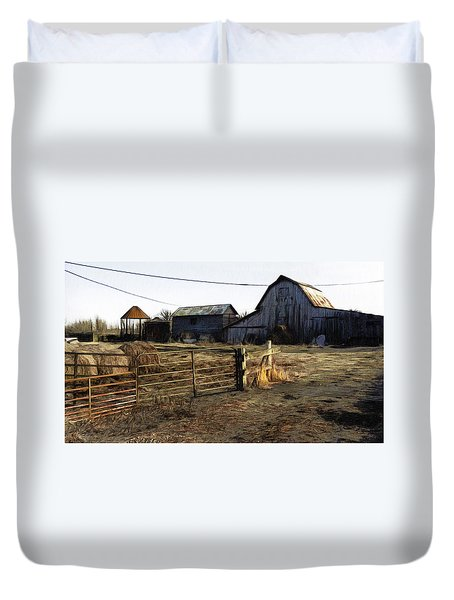 The Barn Across The Road Duvet Cover