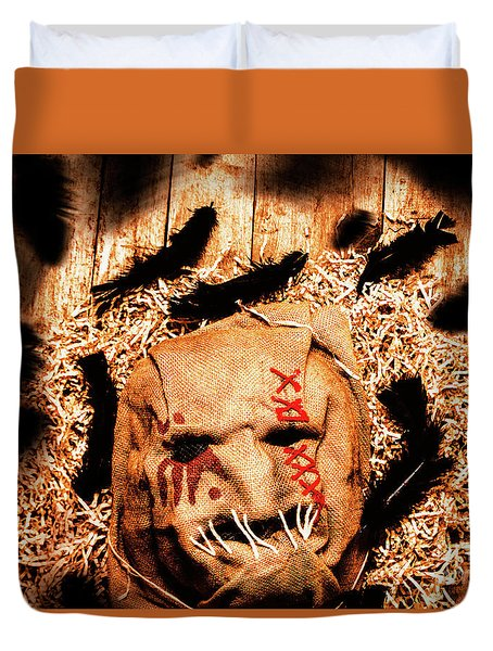 The Barn Monster Duvet Cover