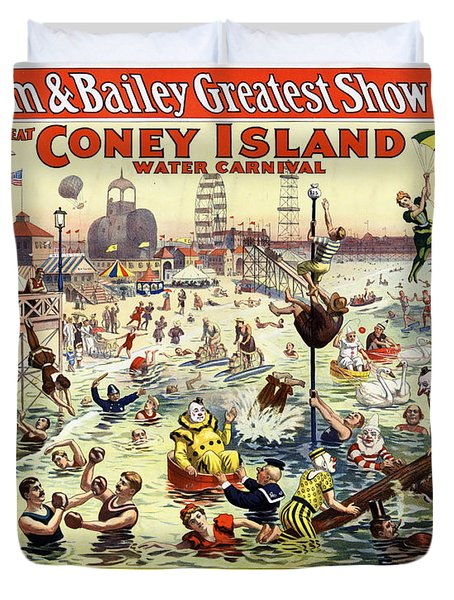 The Barnum And Bailey Greatest Show On Earth The Great Coney Island Water Carnival Duvet Cover