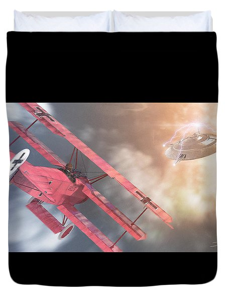 The Baron's Most Unusual Encounter Duvet Cover by David Collins
