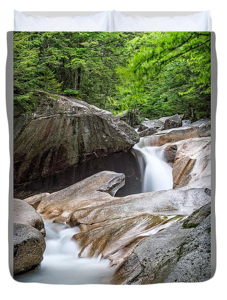 The Basin Down River Duvet Cover by Michael Hubley